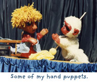 Some of my hand puppets