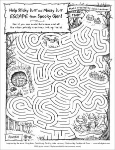Sticky Burr's Spooky Maze