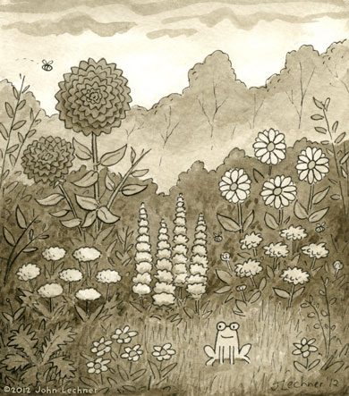 Froggy Garden - by John Lechner