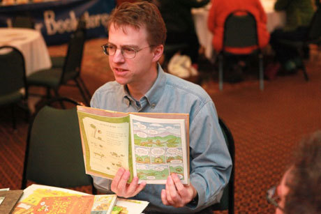"John Lechner reading ""Sticky Burr: Adventures in Burrwood Forest"""