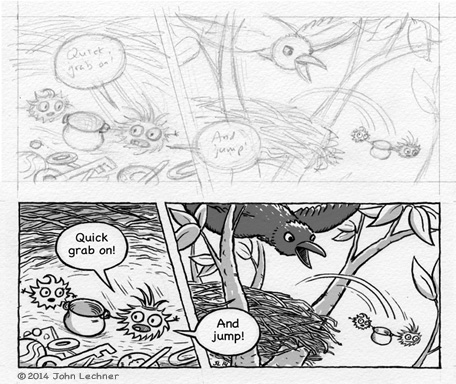Sticky Burr comic process