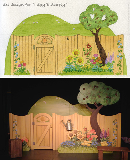 Set design for I Spy Butterfly