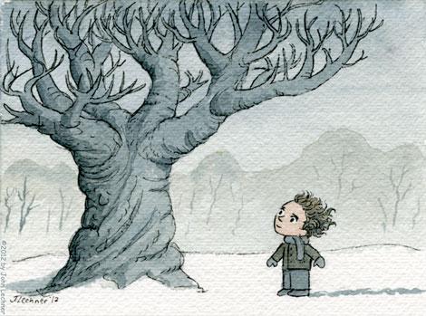 Snowy Tree by John Lechner