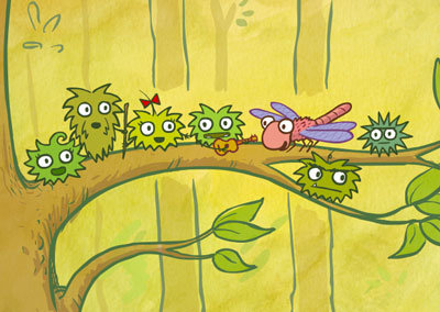 Sticky Burr and friends sing Stuck On A Tree