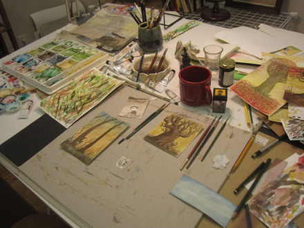 John's art table