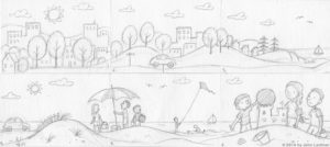 Great Red Ball Rescue storyboard