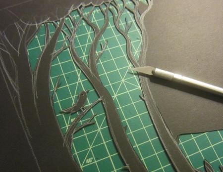 John Lechner cut paper art
