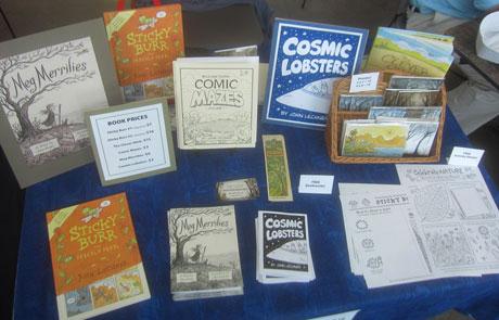 John Lechner comics festival table